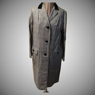Velveteen Collar B & W Chesterfield Coat
