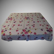 Pink and Purple Posies Tablecloth - L9