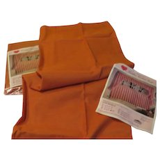 Burnt Orange Cafe Curtains in Package - L*