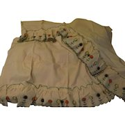 Cream Ruffled Pom Pom Curtains in Packages - L8