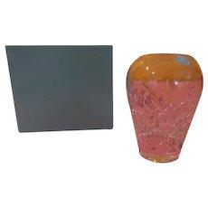 Tiffany Lead Glass Vase - b199
