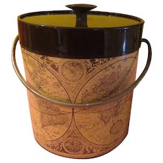 Map of the World Thermo Serve by West Bend Ice Bucket - FG