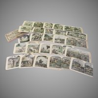 Franco British War Views 25 Stereoviews in box
