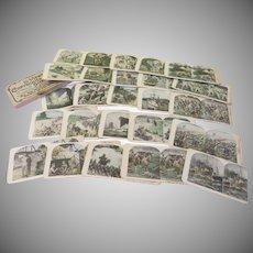 Franco British War Views 25 Stereoviews in box