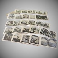 Italian Austrian War Views 25 Stereographic Views in Box