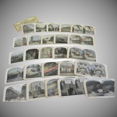 Tour of England and France 25 Stereograph Views