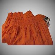 Young Romantics Brick Color Smocked Rod Pocket Curtains - L8