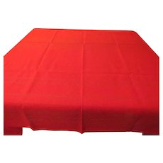 Red with Gold Thread Tablecloth - CL2