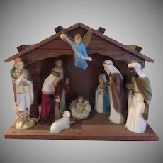 Gloria in Excelsis Deo Wood Nativity Set - X-16-3