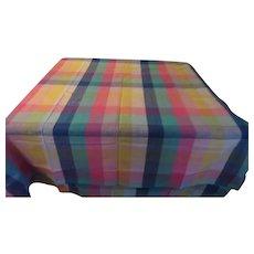 Pastel Woven Plaid Tablecloth - CL