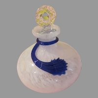 Blue Glass Wrapped Perfume Bottle - b200