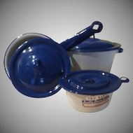 TruBlu Quality Enamelware Cookware Pots with Lids - b