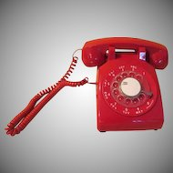 To the Batphone - Red Rotary Dial phone - b212