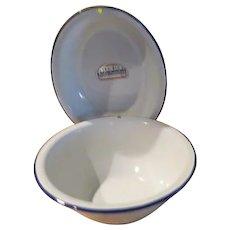 Tru-Blu Quality Enamel Round and Oval Bowls - b