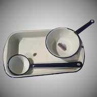 Tru-Blu Quality Enamel Lasagna, Ladle and Pot - b