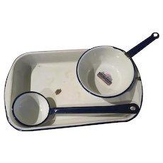 Tru-Blu Quality Enamel Lasagna, Ladle and Pot - b