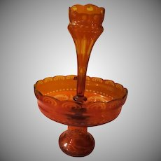Egermann Amber Glass Epergne - b219