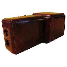 """Nifty """"Wood Grain'' Tin Projector - b215"""