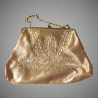 Sequins Under Vinyl Handbag/purse - b214