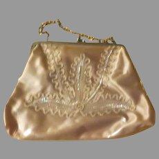 Sequins Under Vinyl Handbag/purse - b214