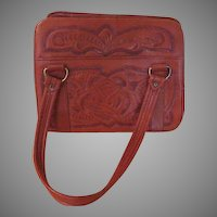 Tooled Roses Leather Purse - b215