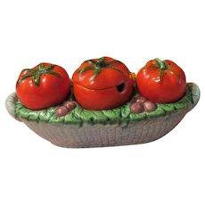 Hot Tomato Salt and Pepper Condiment set - b209