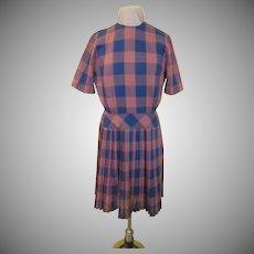 Perky Plaid Knife Pleat Dress