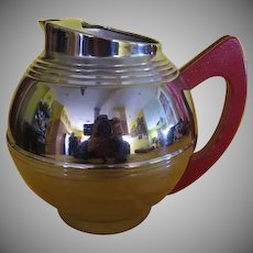 Artfully Deco Chrome Ball Water Pitcher with Ice Lip - g