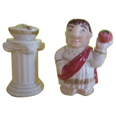 Caesar and His Salad Salt and Pepper Shakers - b220