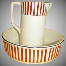 Deco-rated Nimy Imperiale Royale Made in Belgium Pitcher and Bowl - G