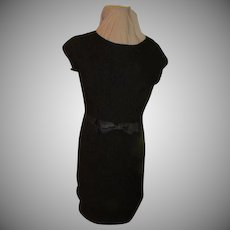 Puckered Up Black Dress