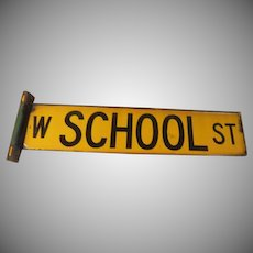 W. School St City of Chicago Street Sign