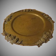 Etched Asian Tray with Grapes around the Rim - g