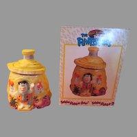 Fred Flintstone at Home Hanna Babbera Cookie Jar in Box