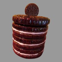 Stack of Double Stuff Cookies Cookie Jar