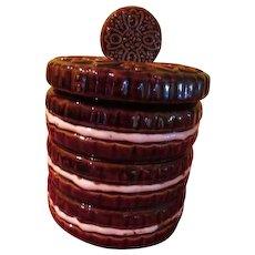 Stack of Double Stuff Cookies Cookie Jar