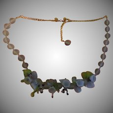 Blue Bells and Beads Necklace