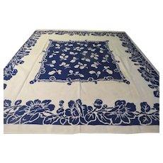 Bountiful Blue Flower Tablecloth - b224/225