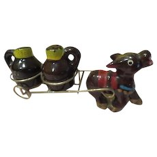 Donkey Pulling Cart Salt and Pepper Shakers - b226