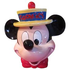 Mickey Mouse in straw Hat Cookie Jar