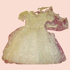 Sweetheart Neckline 1st Communion Dress and Veil