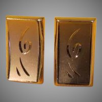 Squiggle Design Swank Cufflinks - Free shipping