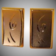 Squiggle Design Swank Cufflinks - Free shipping