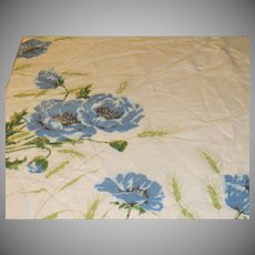 Ring Around Blue Flowers Tablecloth