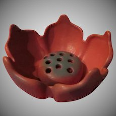 Van Briggle Mulberry Lotus Bowl with Flower Frog