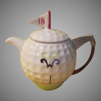 Golf Themed Tony Wood Tea Pot - g