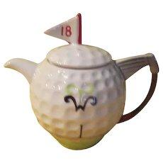 Golf Themed Tony Wood Tea Pot - g