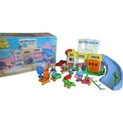 Yabba Dabba Do! The Flintstones Kids Town of Bedrock Prehistoric Playset