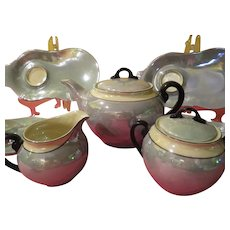 Czechoslovakian LDB Co. Lusterware 14 Piece Tea set - b229