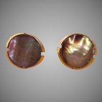 Abalone Swank Cufflinks - Free shipping